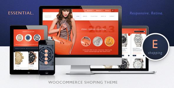 Wesentlich - Responsive WooCommerce eCommerce und Auktion Vorlage