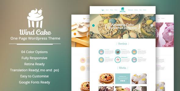 WindCake - OnePage WordPress Vorlage