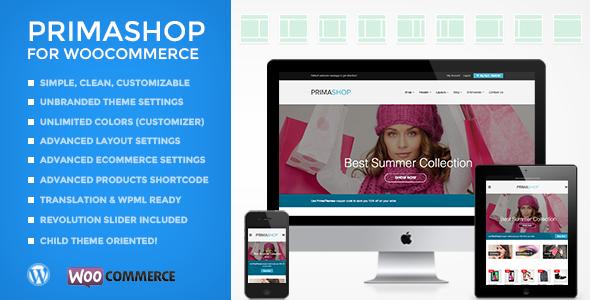 PrimaShop - Sauberes WooCommerce WordPress Vorlage