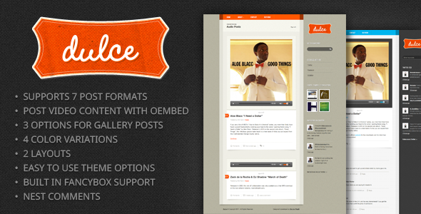 Dulce - Ein Tumblr Style WordPress Template