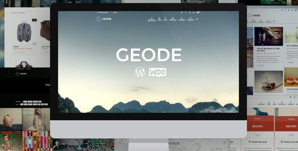Geode Elegantes eCommerce Mehrzweckthema