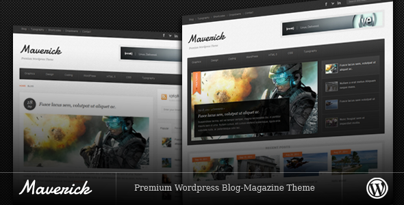 Außenseiter - Blog / Zeitschrift WordPress Layout