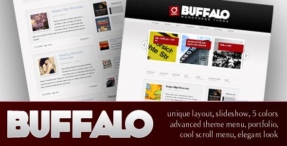 Buffalo - Einzigartiges WordPress Layout (5 in 1)