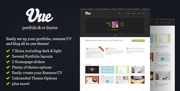 Vue - Portfolio & Lebenslauf WordPress Layout