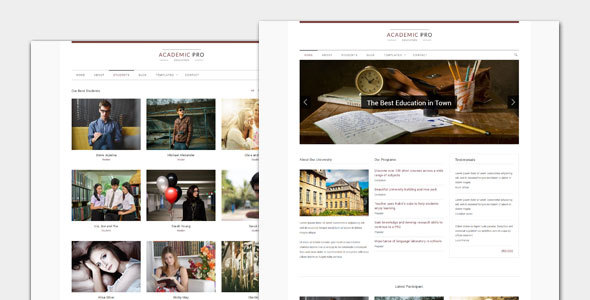 Akademisch - Modernes Bildungs-WordPress Template