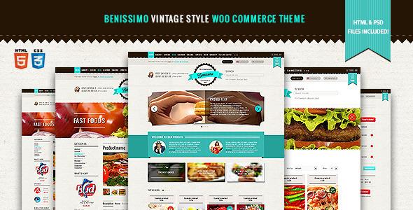 Benissimo - Vintage-Stil WooCommerce-Thema