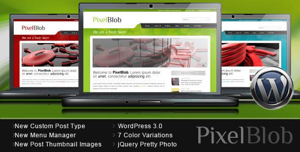 Pixelblob - Portfolio und Business WordPress Template