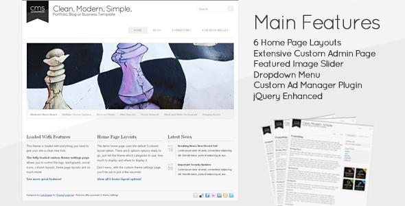 Saubere moderne einfache - CMS WordPress