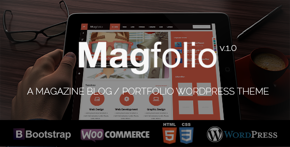 Magfolio - WP WooCommerce Portfolio Blog Thema