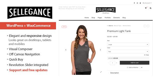 Sellegance - Responsives WooCommerce-Thema
