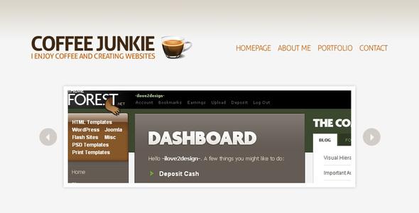 Kaffee Junkie WordPress Version