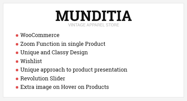 Munditia - Responsives Ecommerce WordPress Vorlage