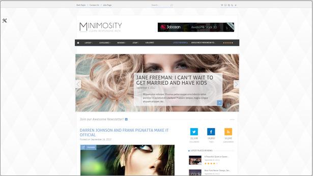 Minimosität - Magazin, Reviews und News WP Vorlage