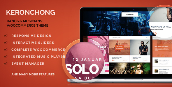 Keronchong - Band, Musik und Event WooCommerce Template