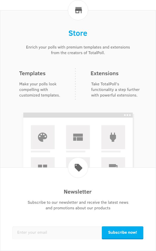 Im TotalPoll WordPress Umfrage-Plugin speichern: Vorlagen und Erweiterungen.