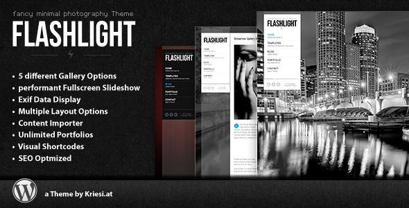 Taschenlampe - Fullscreen-Hintergrund-Portfolio-Thema
