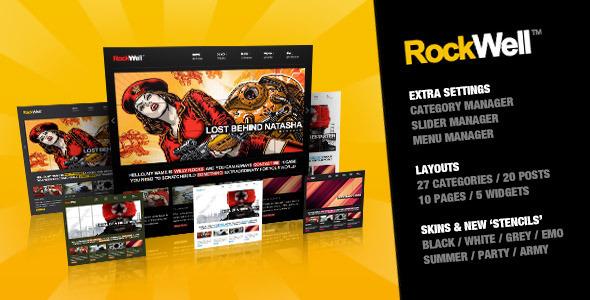 RockWell - Portfolio & Blog WordPress Vorlage