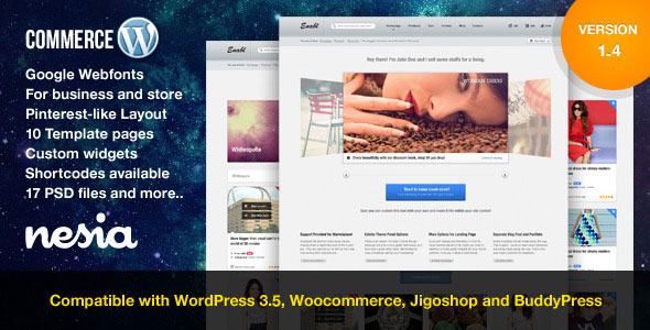 Commerce - Vielseitiges und responsives WordPress Layout