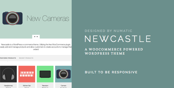 Newcastle - Ein WooCommerce Powered WordPress Vorlage