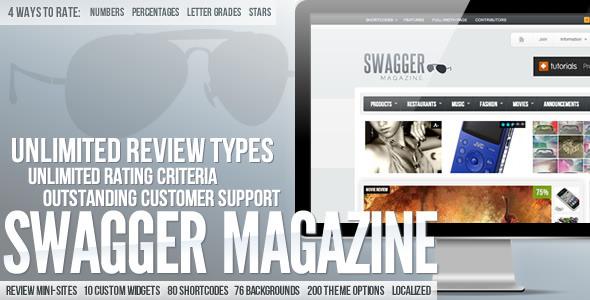 SwagMag - WordPress Magazin / Review Vorlage