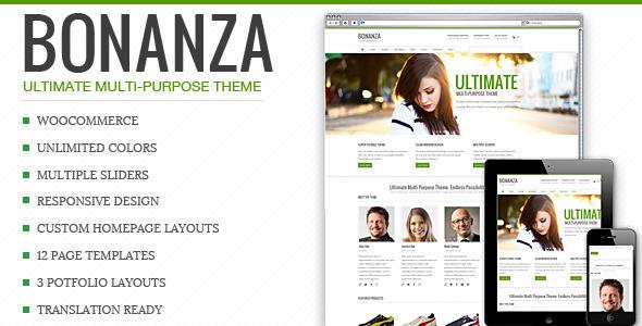 Bonanza - Responsive Mehrzweck WordPress Vorlage