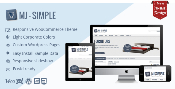 MJ Simple - Responsives WooCommerce-Thema