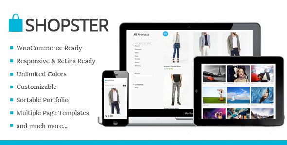 Shopster - Retina Responsives WooCommerce Template