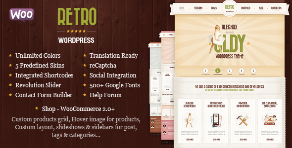 Retro - Vintage WordPress Vorlage