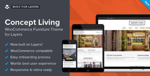 Konzept Leben - WooCommerce Möbel Layout