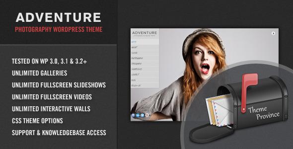 Abenteuer - Eine einzigartige Fotografie WordPress Vorlage
