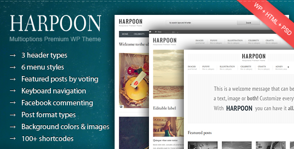 Harpoon - Multioptions Responsive WP Template