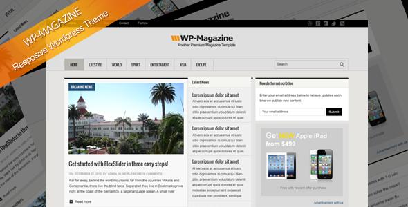 WP-Magazin responsive WordPress Vorlage