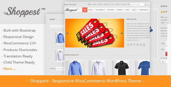 Shoppest - Responsives WooCommerce WordPress Template