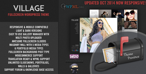 Village - Ein Responsive Vollbild WordPress Template