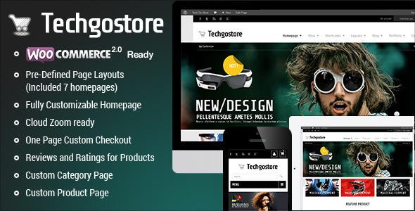WooCommerce WordPress Vorlage - TechGoStore