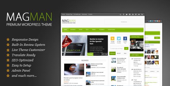 MagMan Magazin - Nachrichten Magazin Vorlage