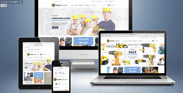 456 Industrie - Reparaturwerkzeuge Geschäft & Konstruktion / Bau / Renovierung WP Vorlage