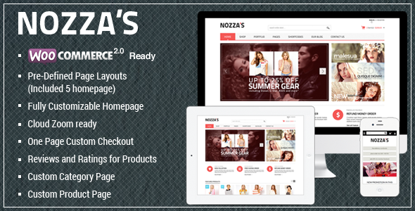 WooCommerce WordPress Vorlage - ModeZozza