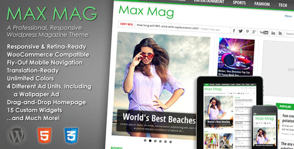 Max Mag - Responsives WordPress Magazin Thema