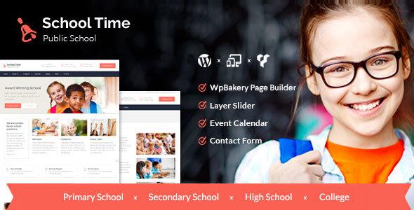 Schulzeit - moderne Bildung WordPress Template
