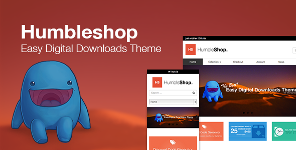 Humbleshop - Minimal einfache digitale Downloads Template