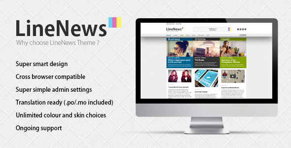 LineNews Wordpress Vorlage