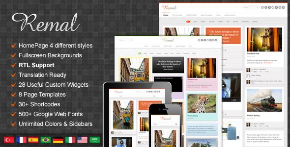 Remal - Responsives WordPress Blog Layout