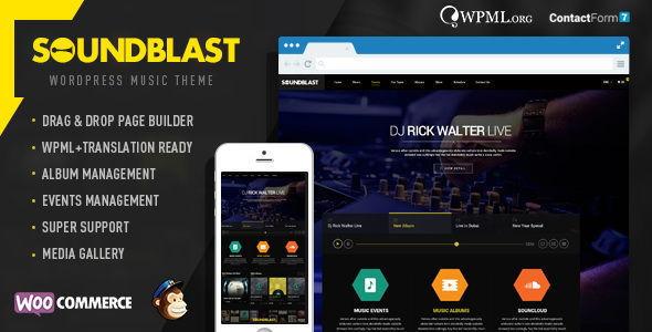 SoundBlast - Musikband WordPress Vorlage