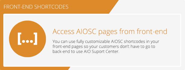 AIO Support Center - WordPress Ticketing System