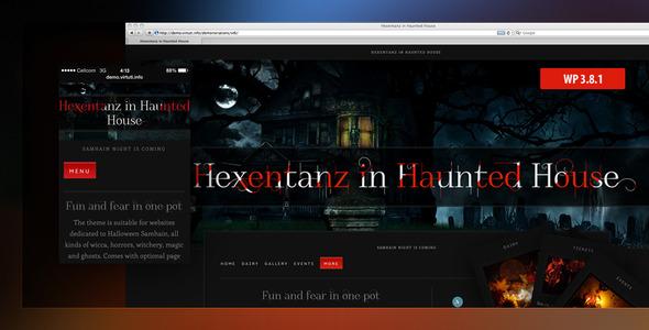 Hexentanz-Horror Halloween-Events Spuk WP Thema