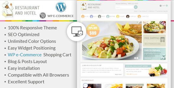 Restaurant - Wordpress E-Commerce-Thema