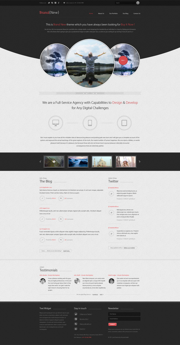 Brandneu - Ein exklusives WordPress Template