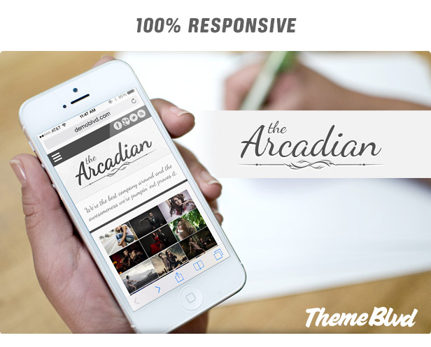 Das arkadische Responsive WordPress Layout