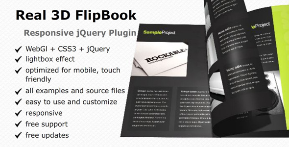 Real 3D FlipBook - reaktionsschnelles jQuery Plugin - CodeCanyon Item for Sale